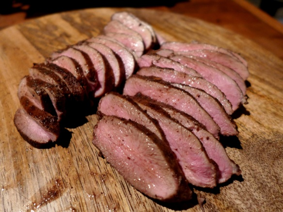 Image of sliced duck
