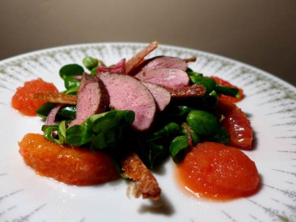 Image of Duck and Orange Salad with Duck Crackling