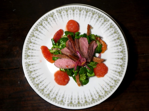 Image of Duck Salad with Oranges and Duck Crackling