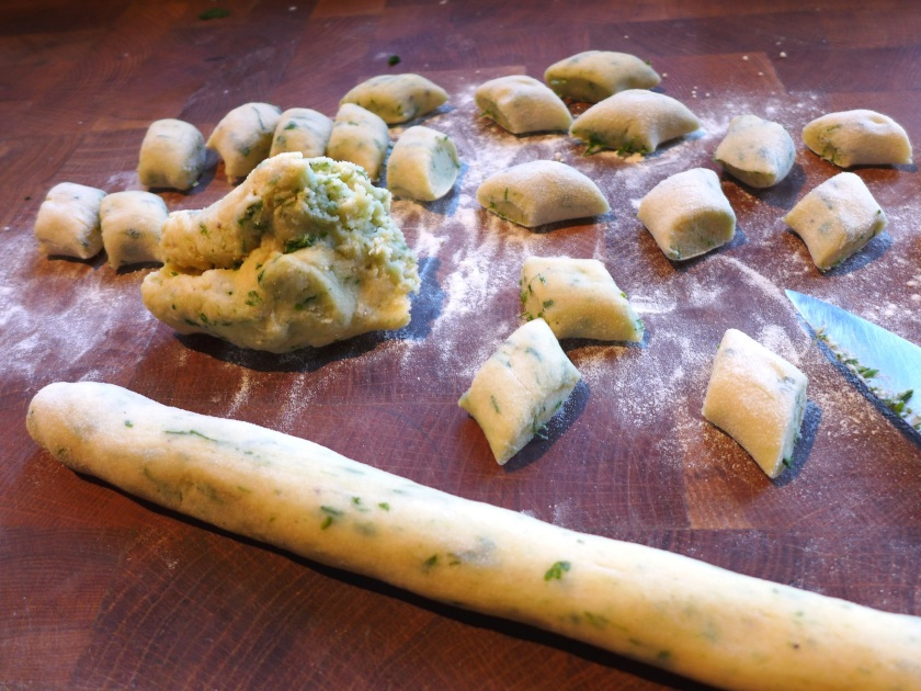 Image of gnocchi being formed