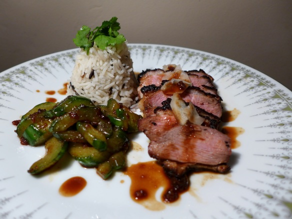 Image of Teriyaki Duck with Stir-fried Cucumber