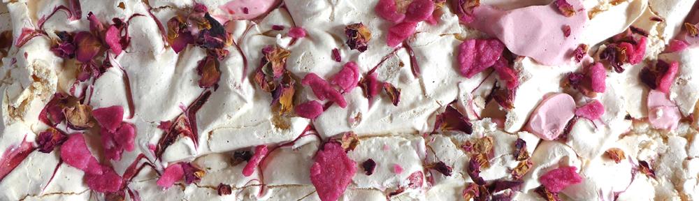 Image of Raspberry and Rose Meringue Torte