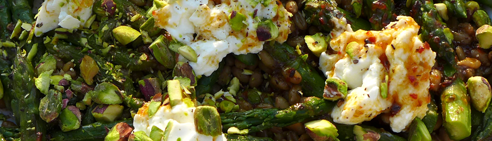 Image of asparagus and freekeh salad