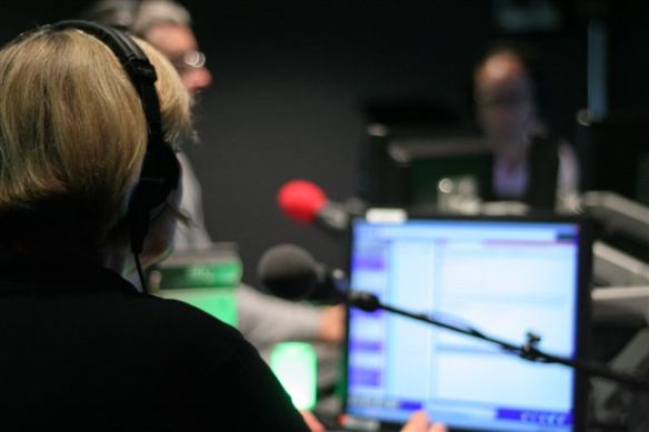 Image of Linda in radio studio