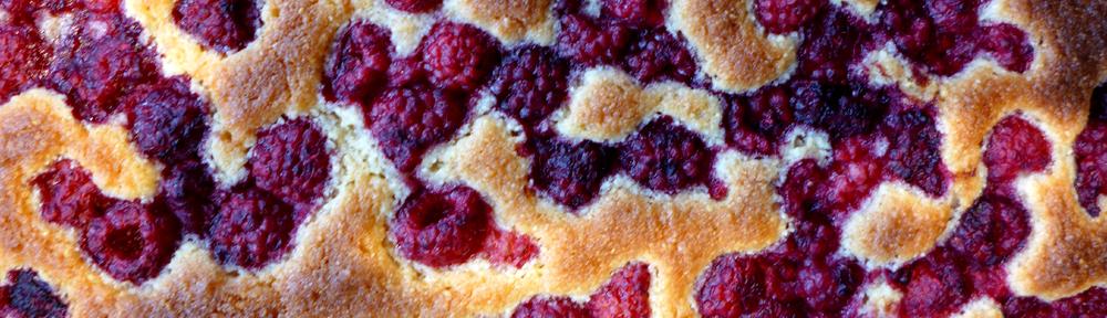 Image of raspberry bakewell slice