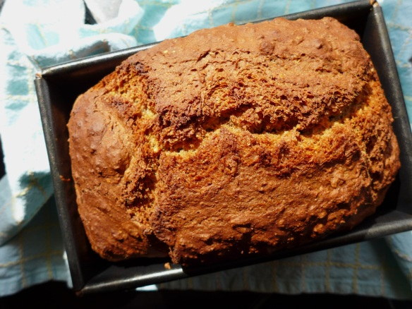 Image of wheaten bread just out of the oven