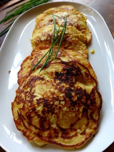 Image of potato and sweetcorn pancakes