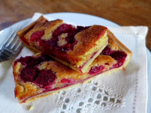 Image of raspberry bakewell slices