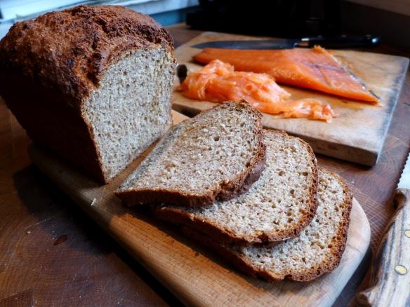 Image of wheaten bread, sliced
