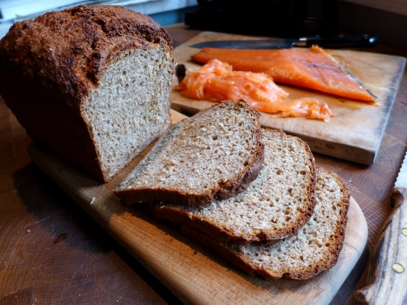 Image of wheaten bread, sliced