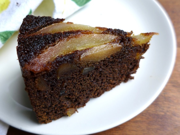 Image of a slice of parkin with pears