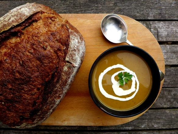 Image of soup and bread