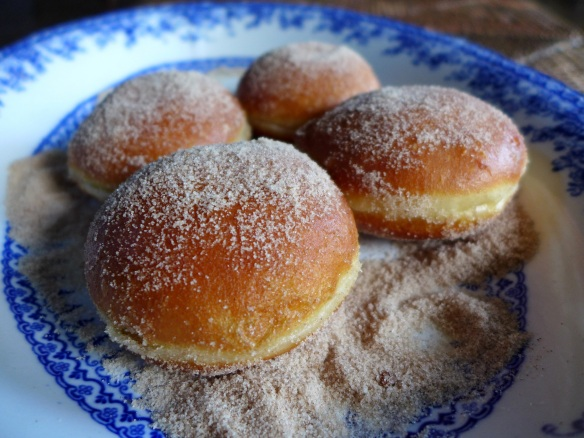 Image of doughnuts rolled in cinnamon sugar