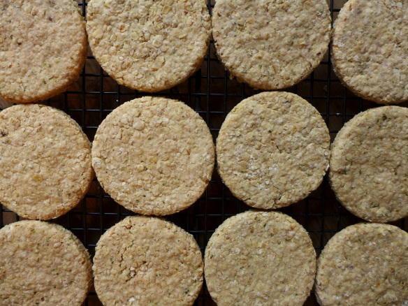 Image of rosemary and walnut oatcakes
