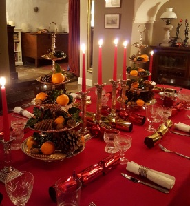 Image of the Christmas dinner table