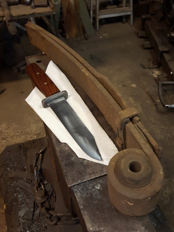 Image of leaf spring and finished knife