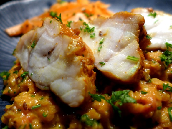 Image of tandoori-spiced Monkfish