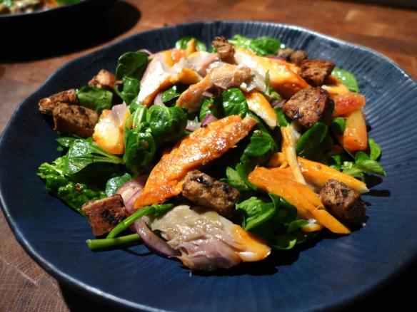 Image of smoked mackerel salad with blood oranges