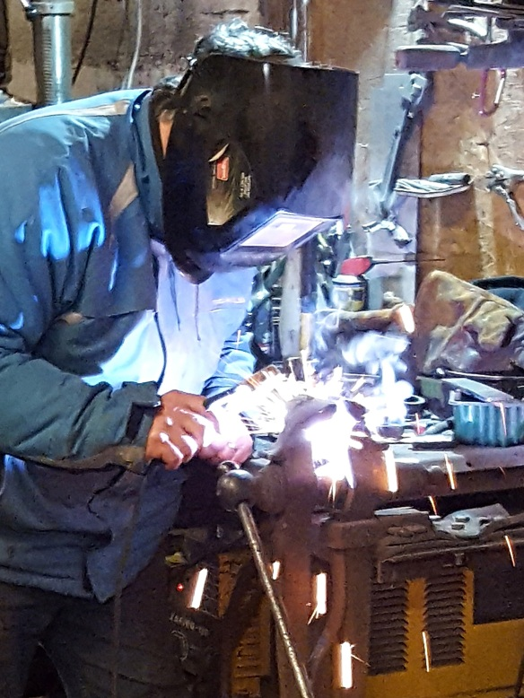Image of Sergio welding