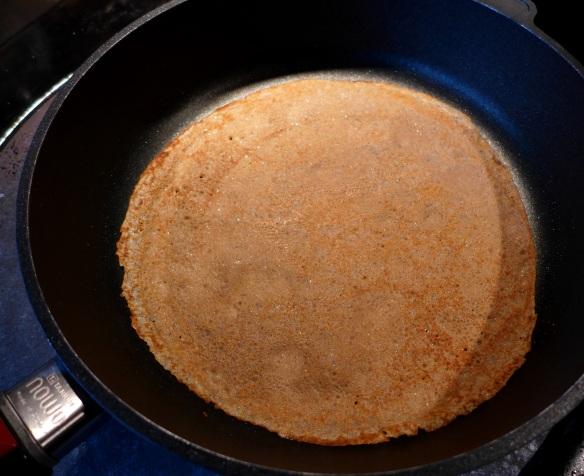 Image of pancake cooking