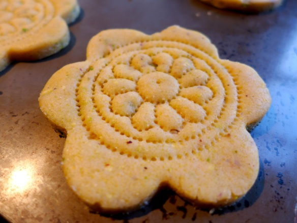 Image of pricked shortbread, uncooked