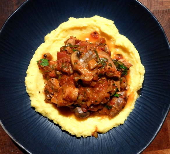 Image of Hunter's Rabbit with polenta