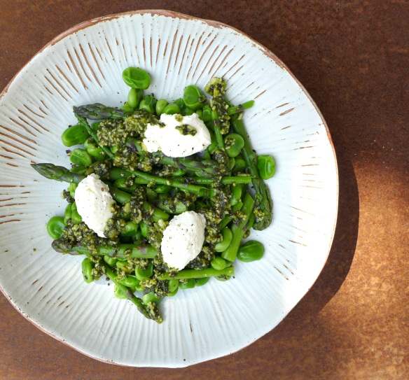 Image of asparagus and broad bean salad
