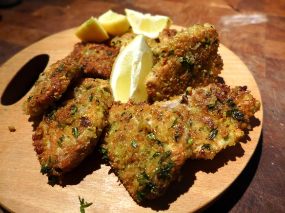 Image of crispy pork medallions, cooked