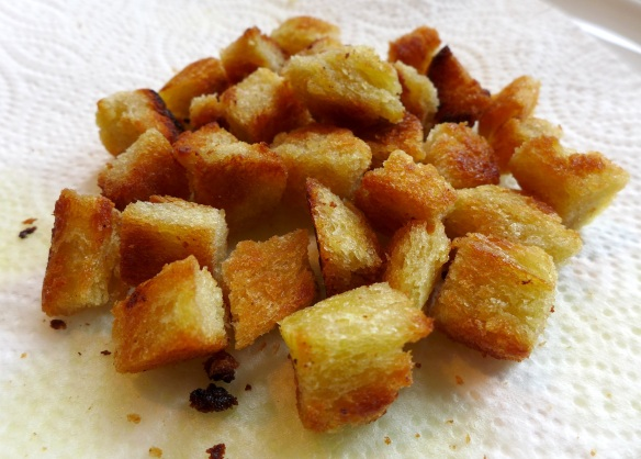 Image of pan-fried croutons