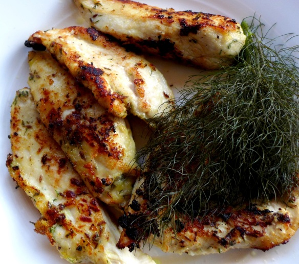 Image of buttermilk chicken with dill and caraway