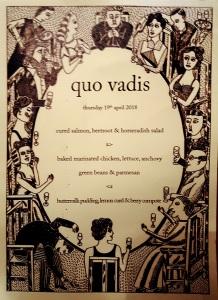Image of Quo Vadis menu