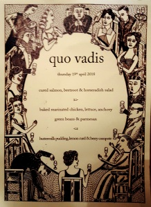 Image of Quo Vadis menu