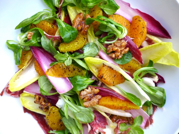 Image of Salad with Burnt Orange and Spiced Walnuts