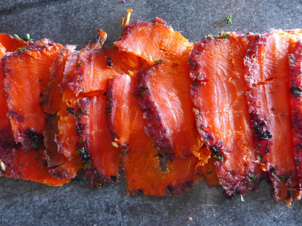 Image of sliced gravlax