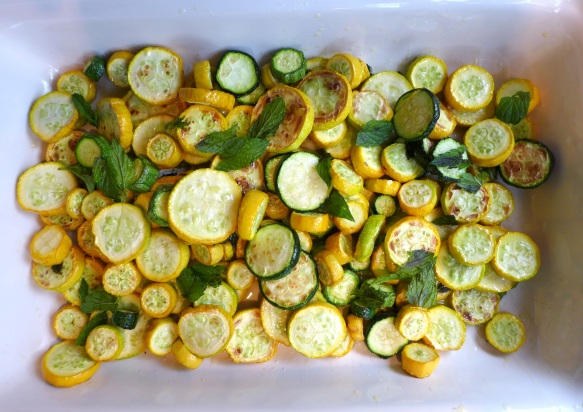 Image of layered courgettes