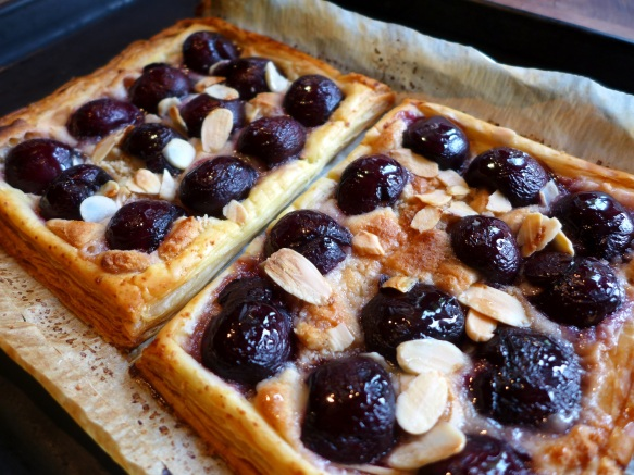 Image of cherry and almond tartlets