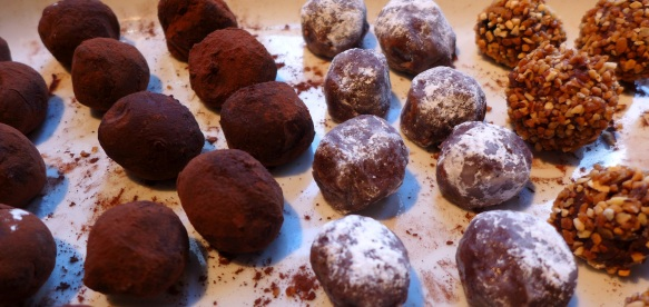 Images of coated truffles