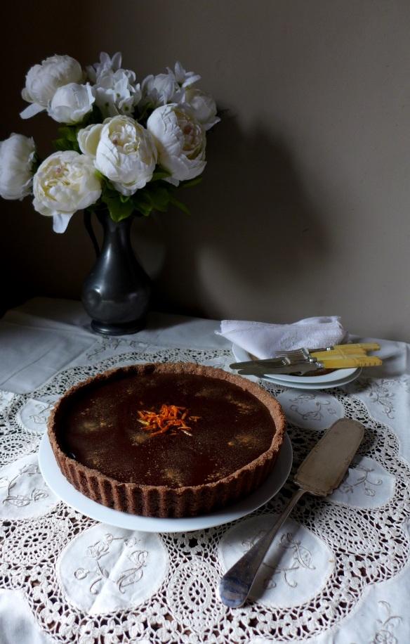 Image of chocolate and orange tart