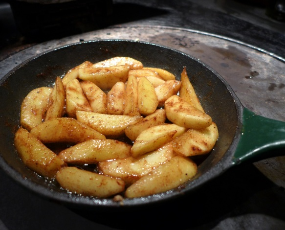 Image of apples fried in butter with spices