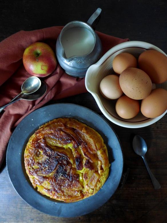 Image of pancake and ingredients